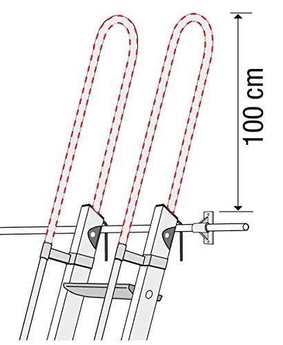 Scala in alluminio per soppalco + 2 mancorrenti + 2 mancorrenti sporgenti standard