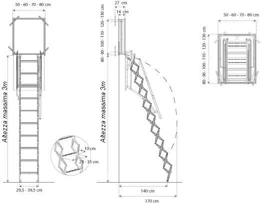Scale Retrattili A Parete A Soffitto Motorizzate Con Foto
