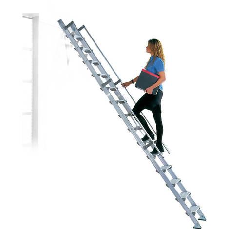 Scala in alluminio con gradini profondi 15cm